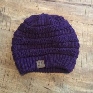 CC beanie hat plum purple bundle with something